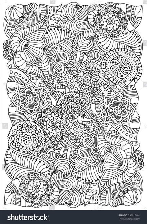 vintage pattern colouring book pattern coloring book ethnic floral retro stock vector