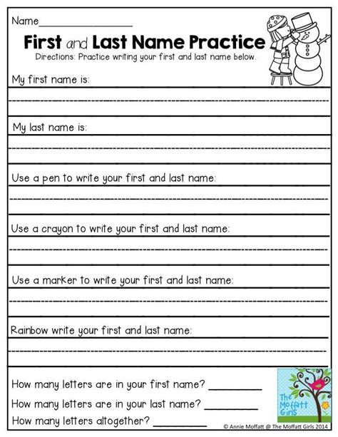 Name Writing Worksheets For Kindergarten by Best 25 Name Practice Ideas On Name Writing