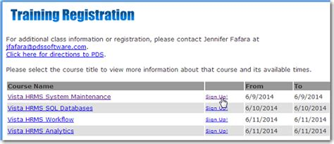 online tutorial registration training schedule and registration now online