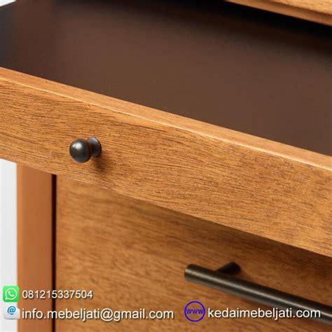 Rak Tv Bufet Laci Minimalis Kayu Jati Buatan Jepara Free Ongkir nakas drawer jati minimalis seri scandi 4 laci detail knob
