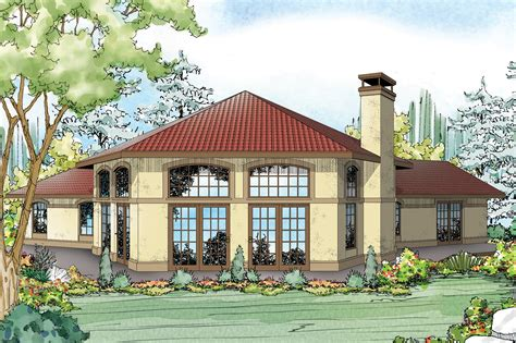 Mediterranean House Plan by Mediterranean House Plans Rosabella 11 137 Associated