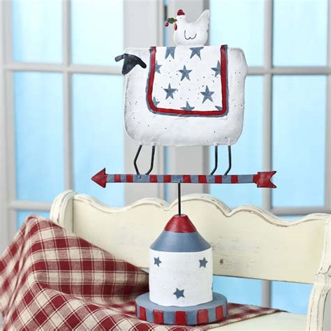 americana sheep and hen weathervane americana decor