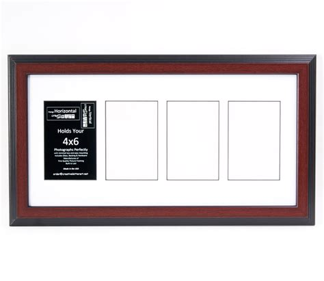 10 X 10 Wood Picture Frame W Mat by 4 Opening 4x6 Glass Mahogany Picture Frame W 10x20