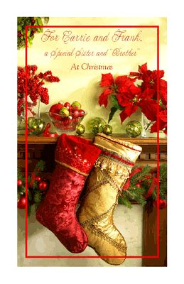 special sister  brother christmas printable card blue mountain ecards