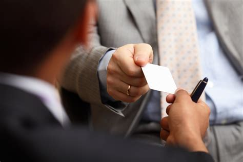card exchange what should you put on a business card