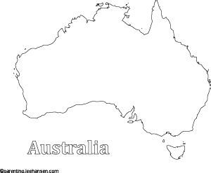 australia map printable colouring sheet