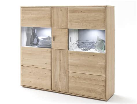 hochschrank wohnzimmer highboard torrent 5 eiche bianco massiv 154x140x39 cm