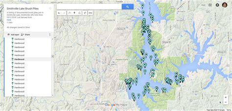 smithville lake map neil s living brush pile map of smithville lake