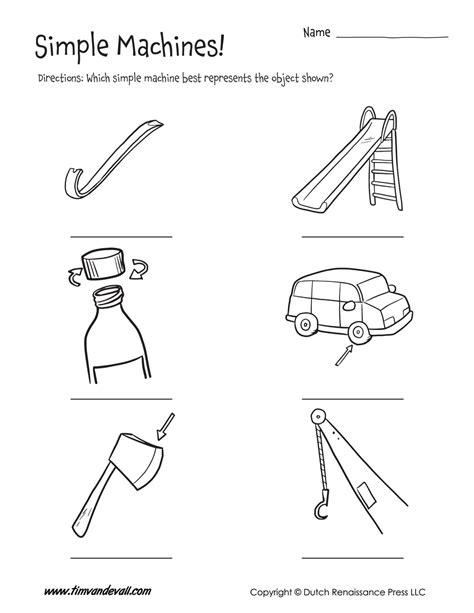 Simple Machine Worksheet by Simple Machines Worksheet Tim S Printables