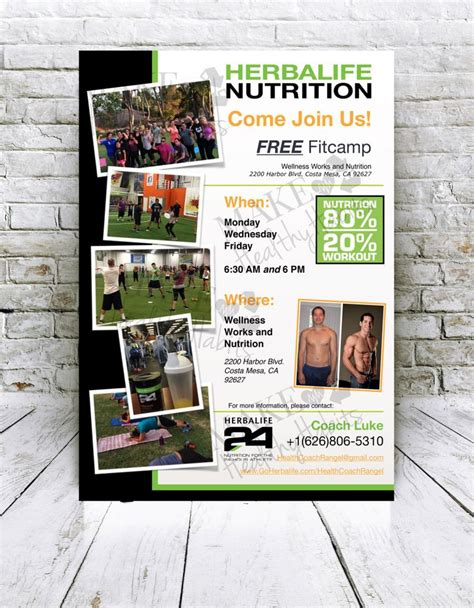 Custom Print Ready Herbalife Fitc Flyer By Kellylynnettedesigns On Etsy Freelancer Goods Herbalife Leaflet Templates