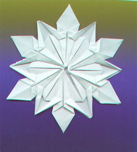 Folded Paper Snowflakes - origami maniacs origami snowflake by dennis walker