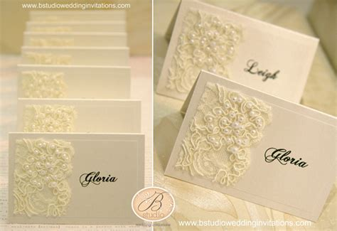 place cards b studio wedding invitations style