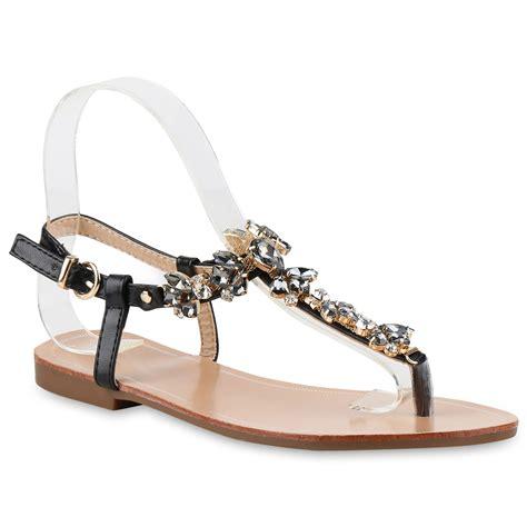 Zehentrenner Damen by Zehentrenner Damen Strass Sandalen Metallic Sommer Schuhe