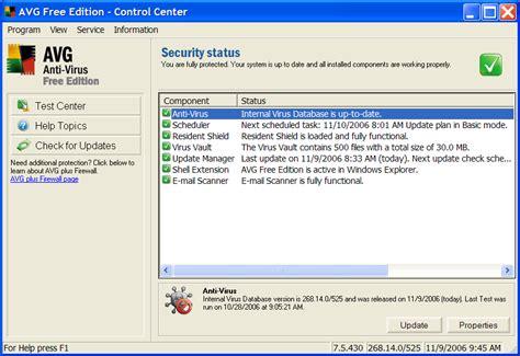 A Free Free Softwares Avg Anti Virus Free Edition