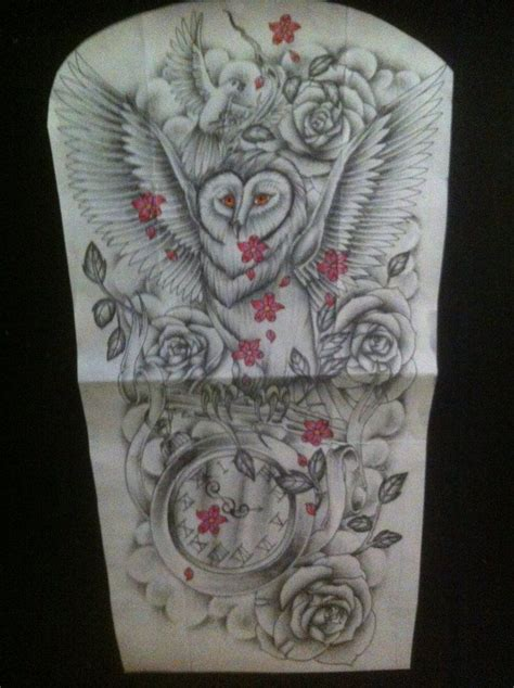 owl sleeve tattoo comic designs owl bird sleeve design