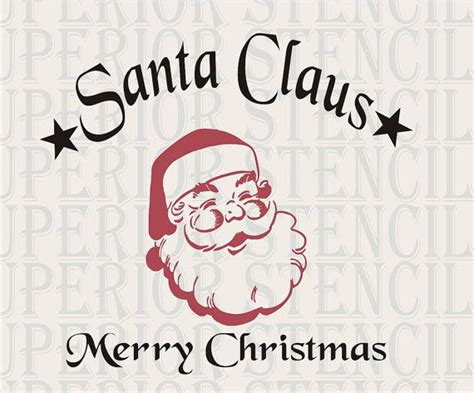 santa claus merry christmas stencil large 11 quot tall x 12