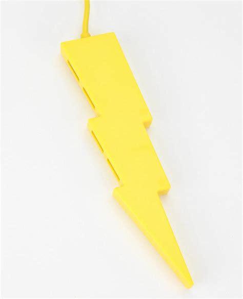Usb Bolt lighting bolt 4 port usb hub gadgetsin