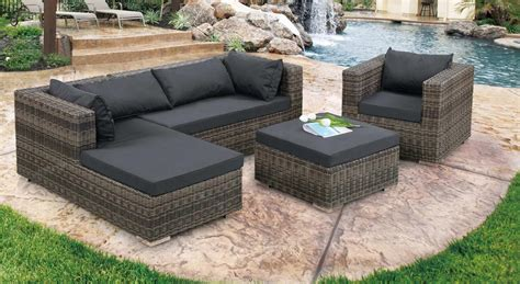 Patio Sofa Sale L Shaped Outdoor Sofa Black Rattan Modular Corner Sofa Set