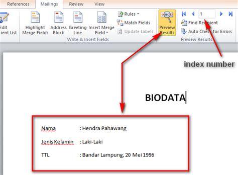 cara membuat mail merge di word 2013 cara membuat mail merge di word menggunakan sumber data