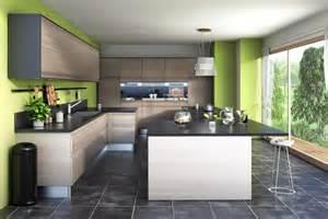 cuisine bois flotte id 233 es cuisines ilot central