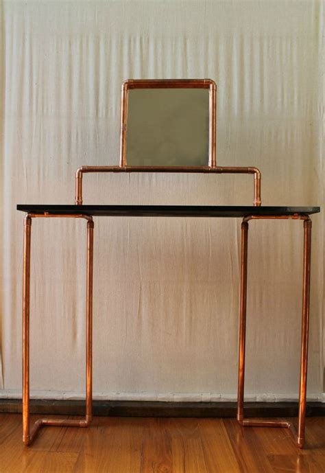Industrial Vanity Table Dressing Tables Industrial And Copper On Pinterest