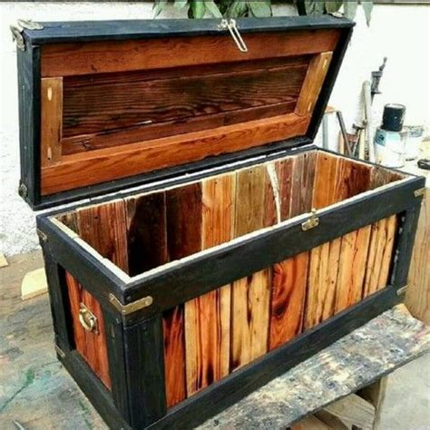handcrafted rustic industrial pine hope chest home decor