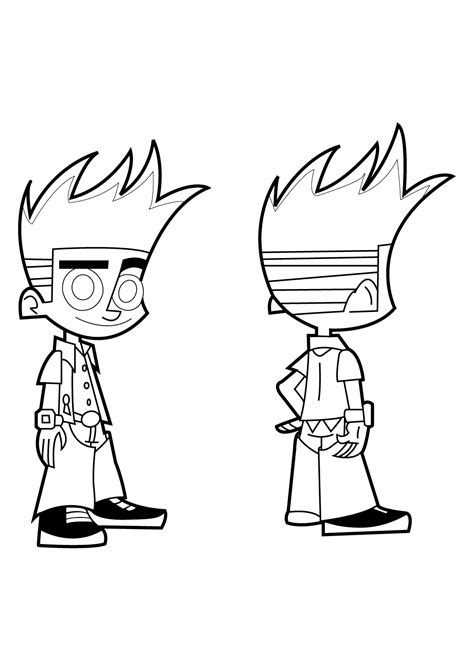 Johnny Test Dukey Dog Coloring Page Coloring Pages