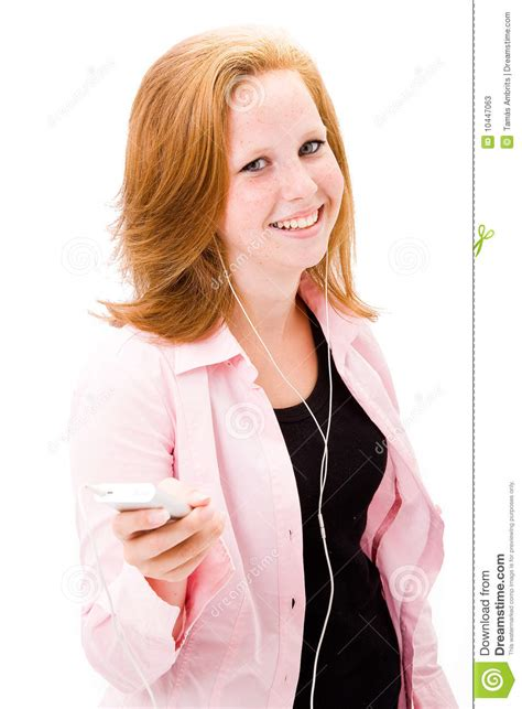 beautiful in white female version mp3 download tenn girl with mp3 player stock photos image 10447063