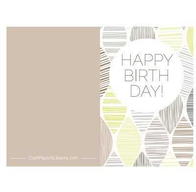 Casual Happy Birthday Wishes Casual Taupe Printable Birthday Card Allfreepapercrafts Com