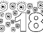 coloring page number 18 free coloring pages of the number 18
