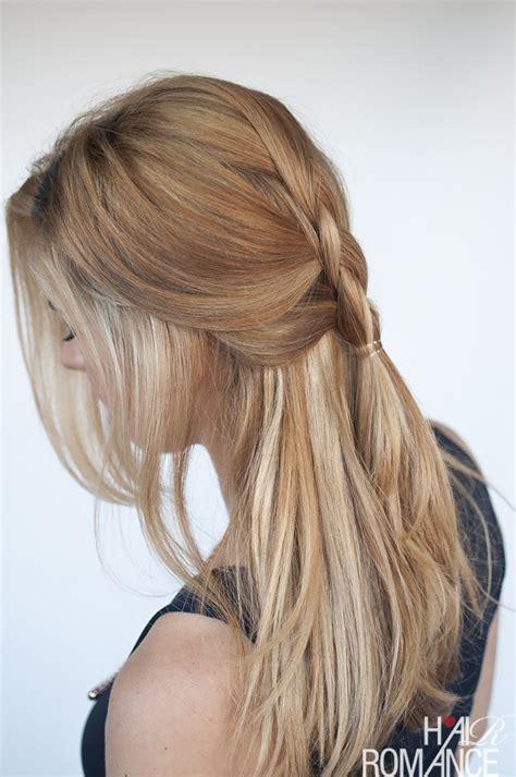 easy braided ponytail hairstyle how to hair romance easy everyday hair dutch braid tutorial