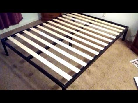bed frame assembly zinus modern studio 14 inch platform metal bed frame assembly youtube