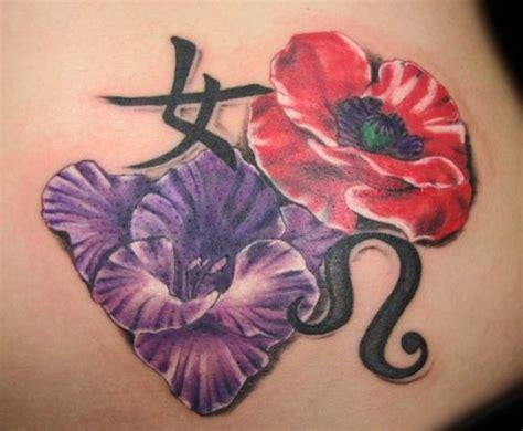 gladiolus flower tattoo designs waist tattoos designs pictures