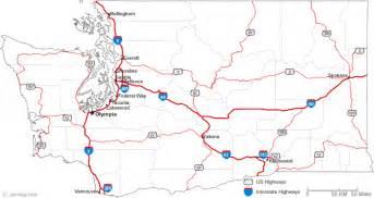 Wa State Road Map by Map Of Washington