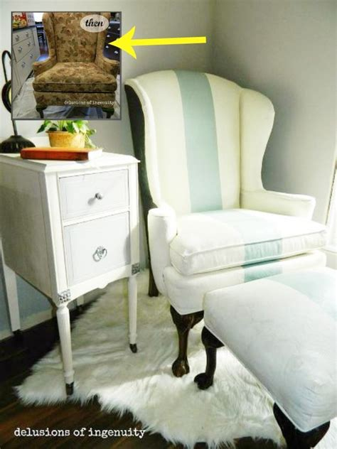 diy chalk paint for upholstery painted fabric on upholstered armchair chalk painting