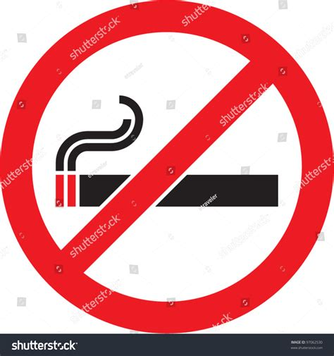 no smoking sign free vector no smoking sign vector isolated stock vector 97062530