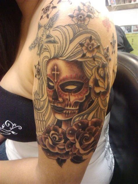 day of the dead half sleeve session2 tattoo