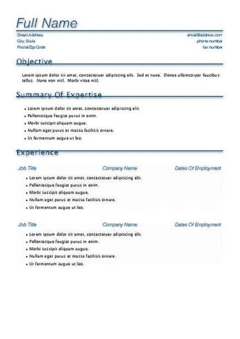 free resume templates for macbook simple resume template