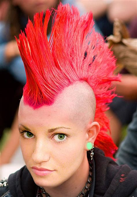 Redhead Women With Spiked Mohawk | mohawk strayhair