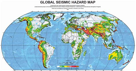 earthquake mp major earthquake zones on each continent