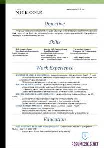 Word Resume Templates 2016 Standard Resume Format 2016