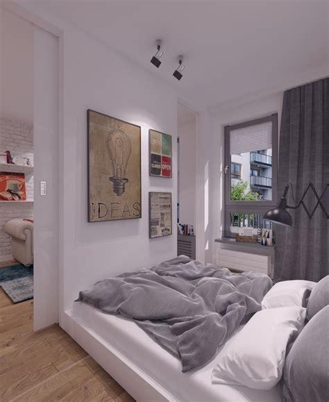 mala sypialnia  mieszkaniu inspiracja homesquare