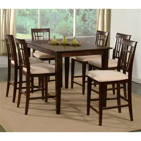lakeport 7 dining set with extension table dcg deco 7 pub set w butterfly extension table dcg stores