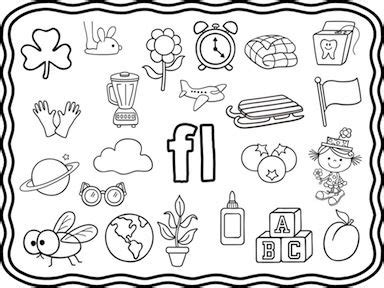 L Blends Coloring Pages by L Blends Word Work Mega Bundle Word Work Color Pictures