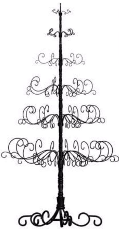 black rod iron christmas tree stand metal tree ornament shop collectibles daily