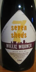 willie warmer seven sheds brewery beeradvocate