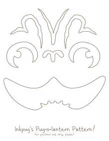 pug pumpkin stencil here s our pug o lantern pumpkin pattern ready to print inkpug