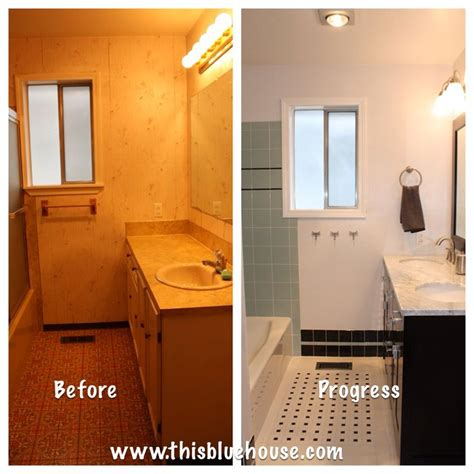 bathroom renovations before and after before and after bathroom renovation blue house pinterest
