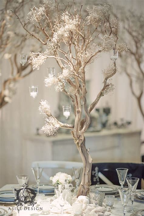 tree centerpieces ideas baby s breath manzanita tree centerpiece yelp