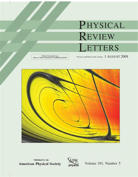 physical review letters jason gallas list of publications 1539